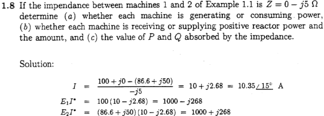 If the impendance between machines 1 and 2 of Exam