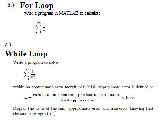 for loop matlab