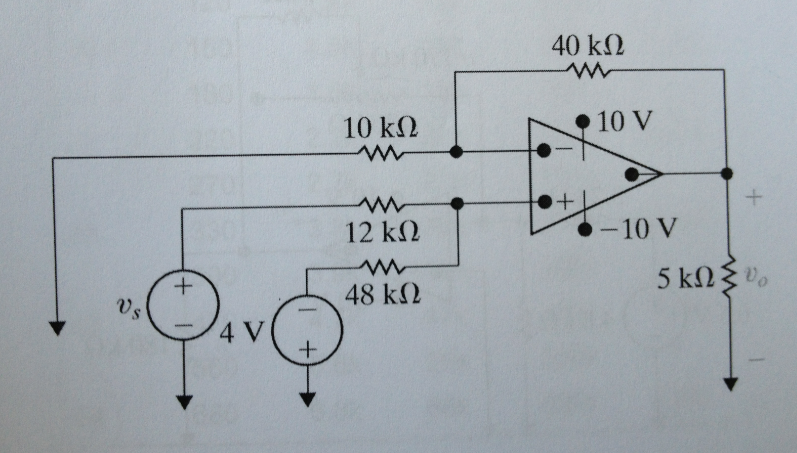 The op-amp in the circuit shown below is ideal. a.