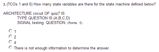 (TCOs 1 and 6) How many state variables are there