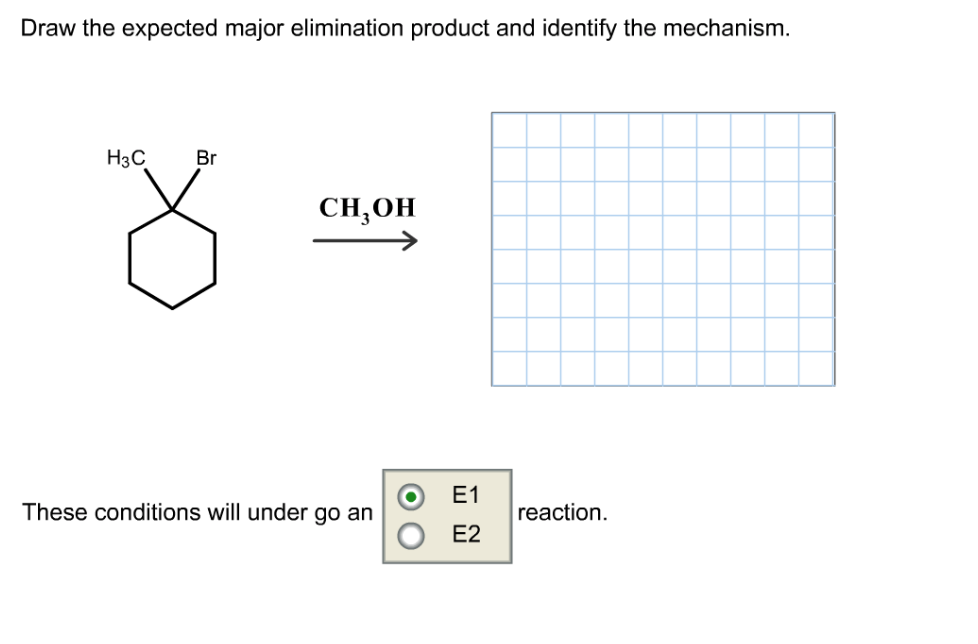 Draw The Expected Major Elimination Product And Id... | Chegg.com