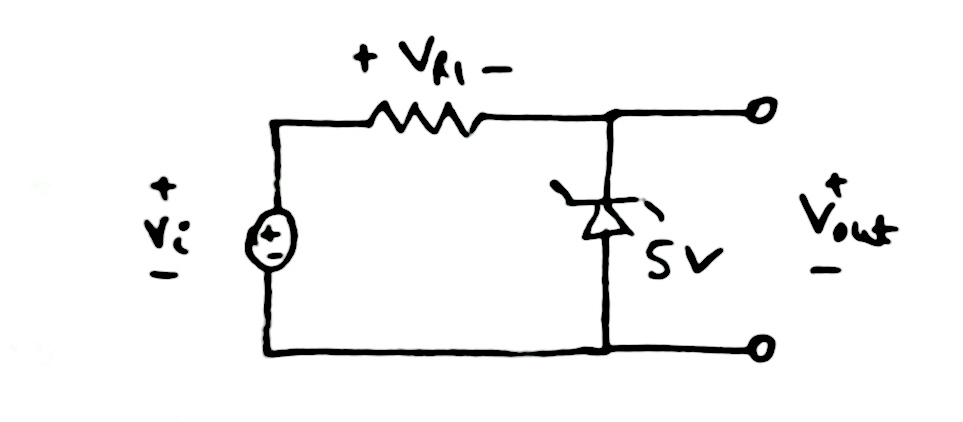 Plot Vr1 and Vout in the given circuit.The Vi is a