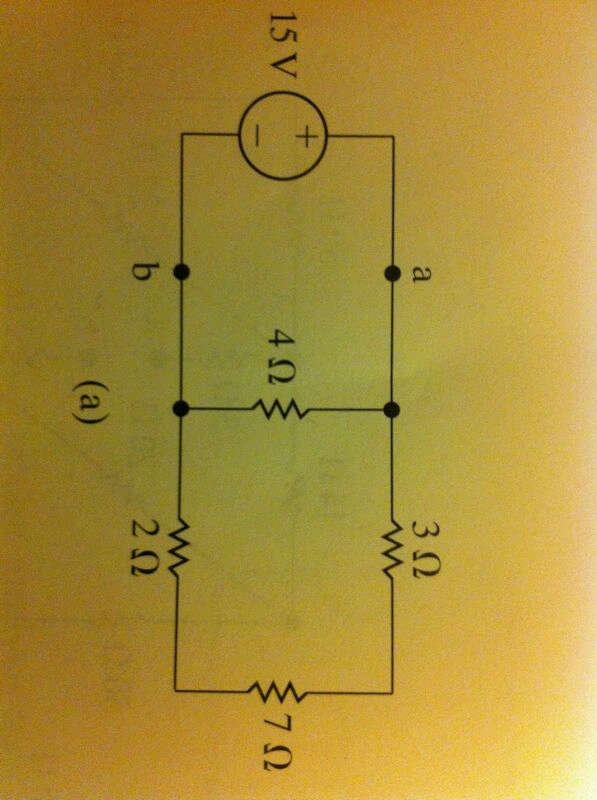 a) In the circuits in Fig above, Find the equivale