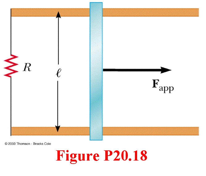 Consider the arrangement shown in Figure P20.18. A