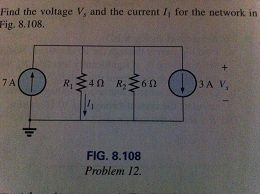 Find the voltage Vs and the current I1 for the net