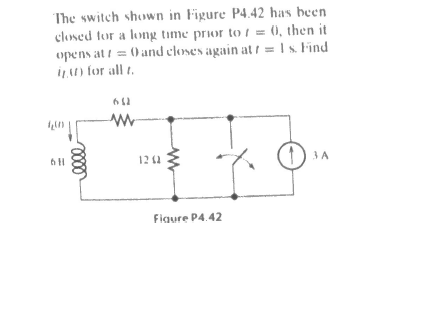 The switch shown in Figure P4 42 has been closed f