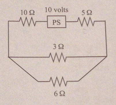 Find the current through each resistor for the cir