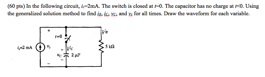 In the following circuit, is = 2mA. The switch is