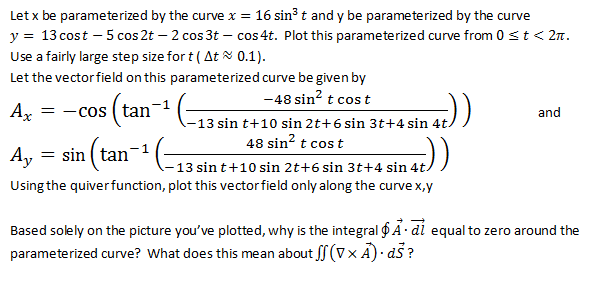 Let x be parameterized by the curve x = 16 sin3 t