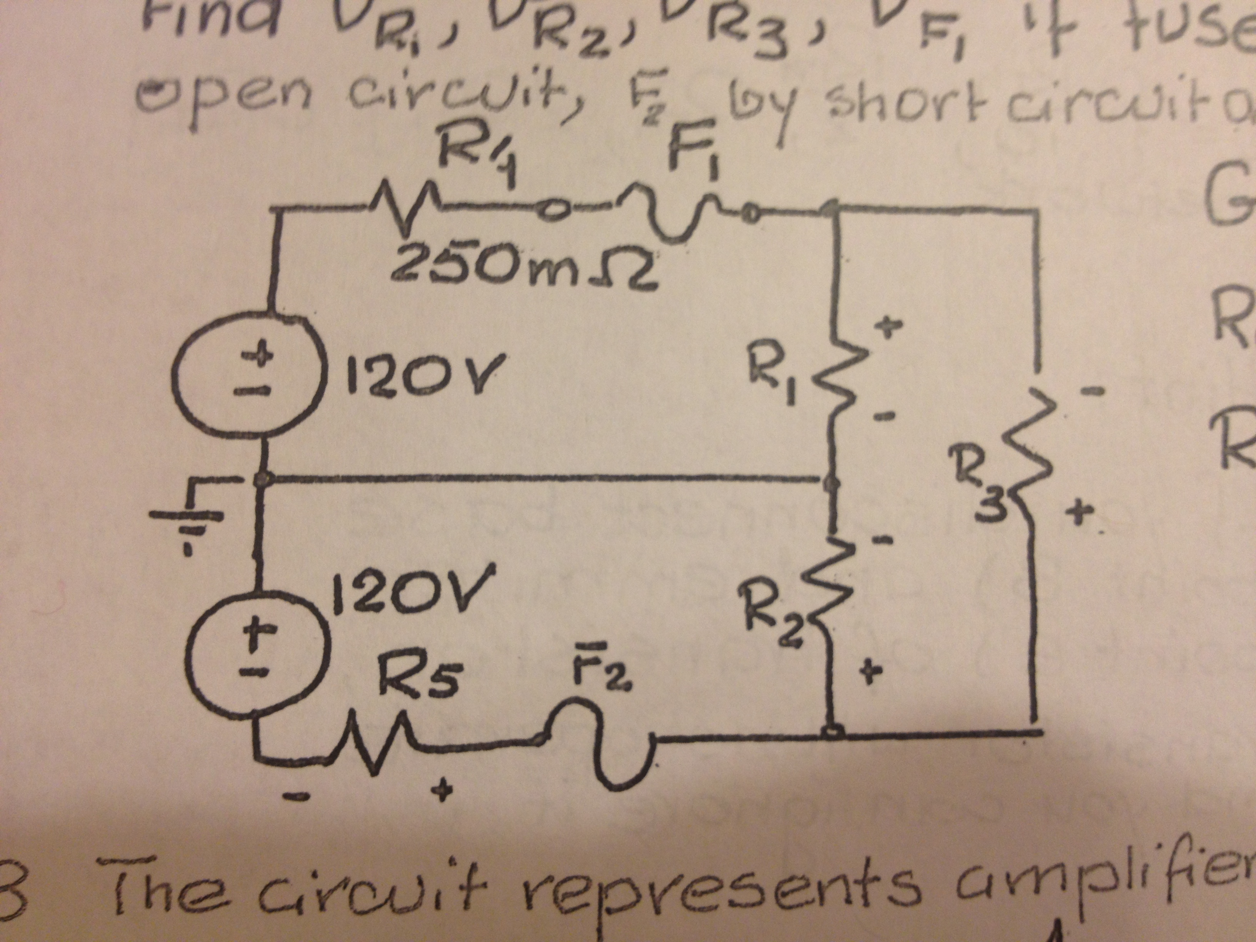 The circuit represents residential power distribut
