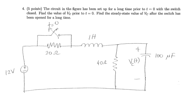 The circuit in the figure has been set up for a lo
