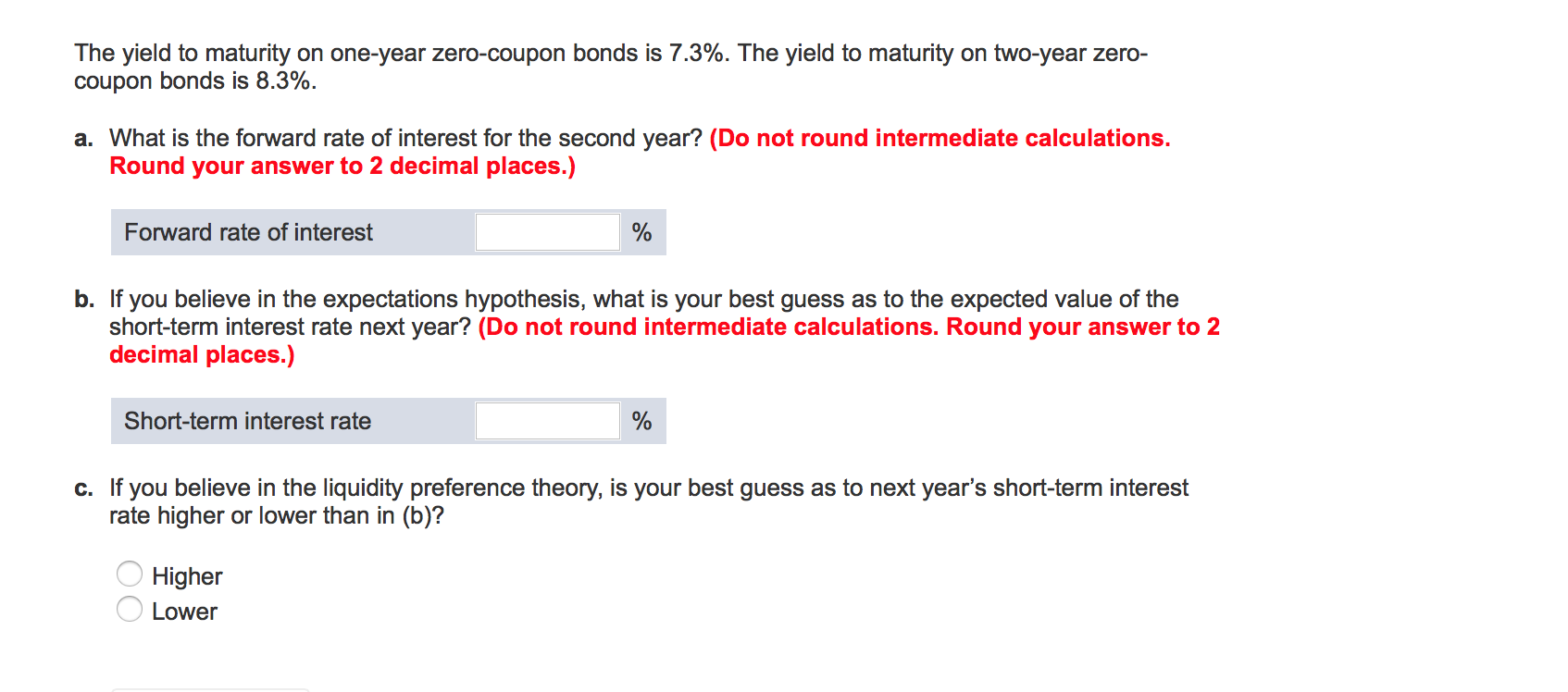 Yield To Maturity For Zero Coupon Bond