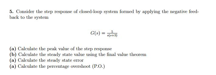 Consider the step response of closed-loop system f