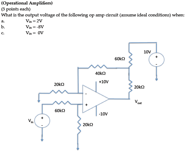 What is the output voltage of the following op amp