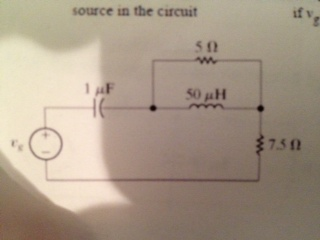 Image for Find the average power, the reactive power, and the apparent power supplied by the voltage source in the cir