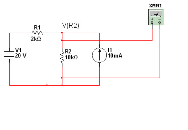 (TCO 6) Using superposition, find the voltage VR2
