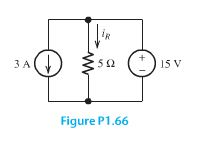 Consider the circuit shown in Figure P1.66. Find t