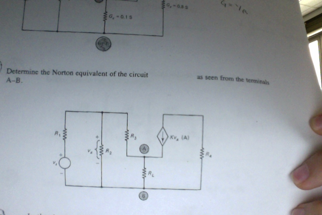 Determine the Norton equivalent of the circuit as