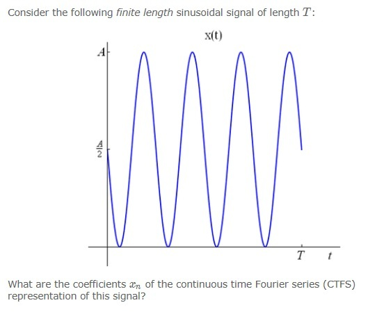 Consider the following finite length sinusoidal si