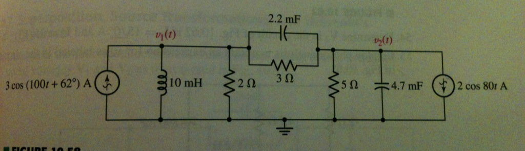 a) Redraw the circuit with the appropriate phasors