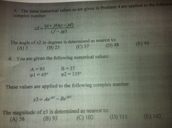 The same numerical values as are given in Problem