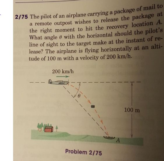 The pilot of an airplane currying a package of mai
