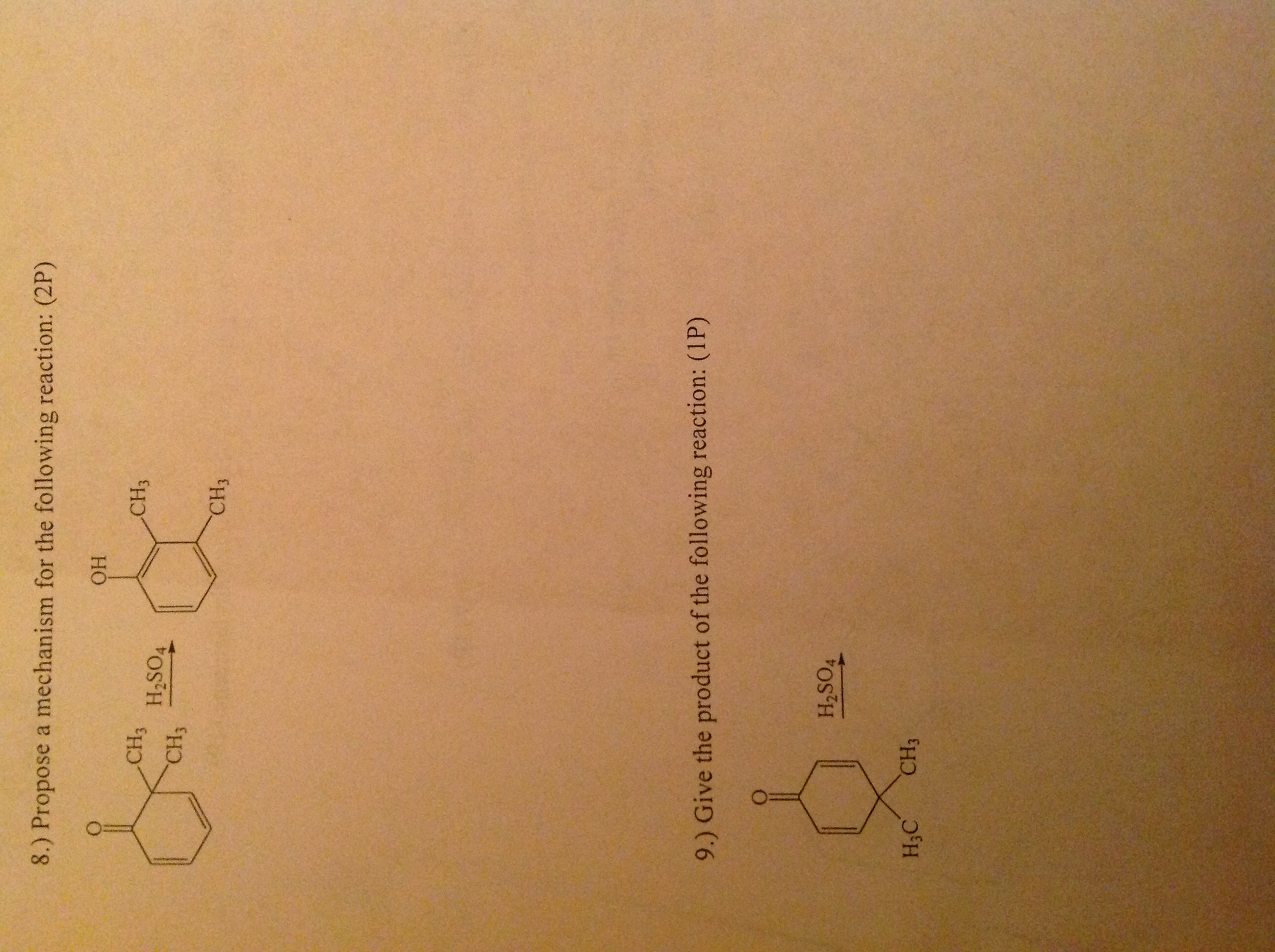 Propose a mechanism for the following reaction:(2P