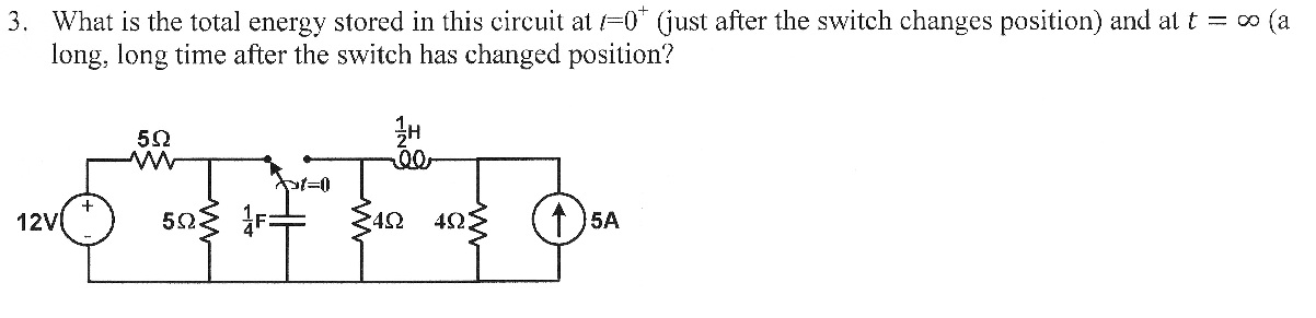 What is the total energy stored in this circuit at