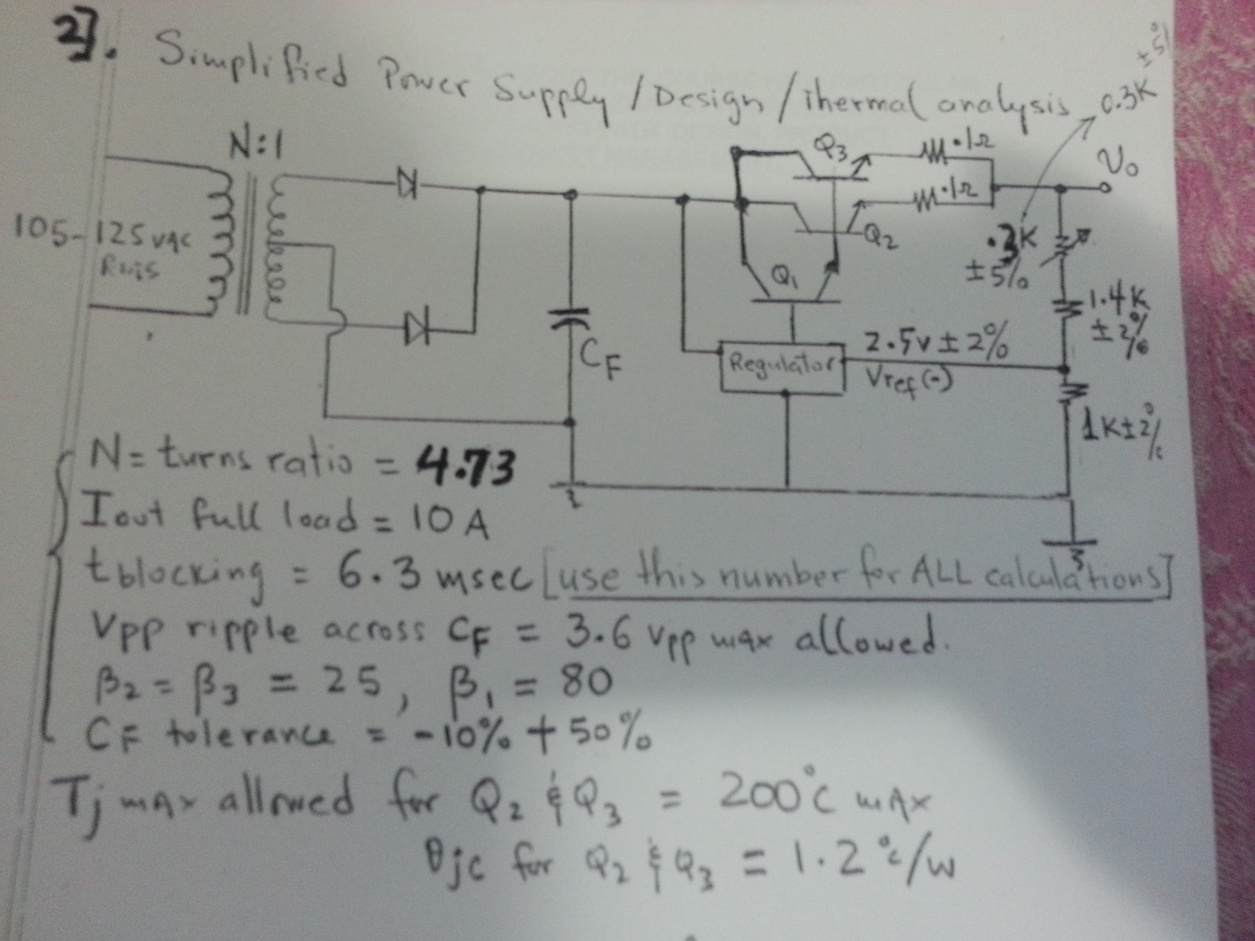 Simplified power supply/Design/Thermal analysis N