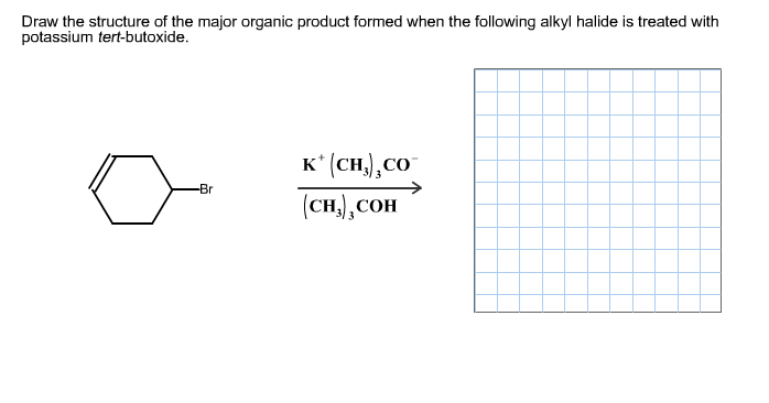 Draw the structure of the major organic product fo
