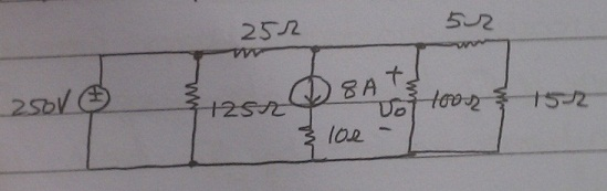 a) Use source transformations to find the voltage