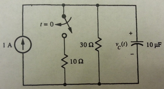 1. Compute the voltage across the capacitor immedi