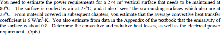 You need to estimate the power requirements for a