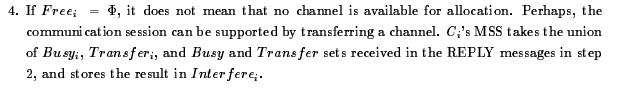 If Free i, = Phi, it does not mean that no channel
