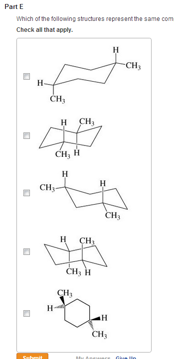 Which of the following structures represent the sa