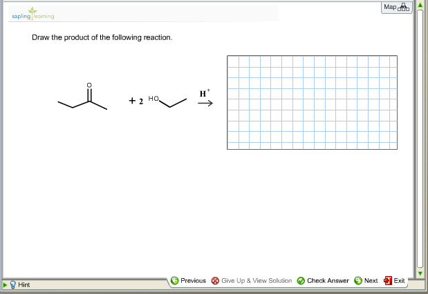 Draw the product of the following reaction