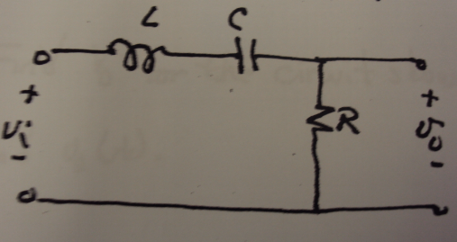 a) Design a series RLC bandpass filter with a qual