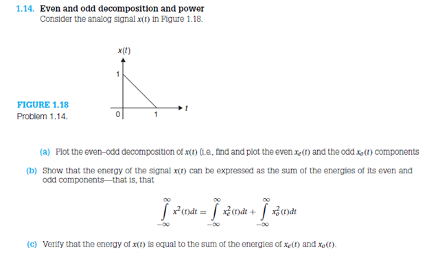 Even and odd decomposition and power Consider the