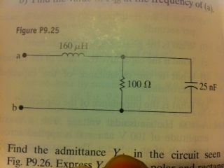 Consider the circuit in Figure below at a frequenc