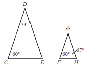 Are the two triangles similar? How do you know?