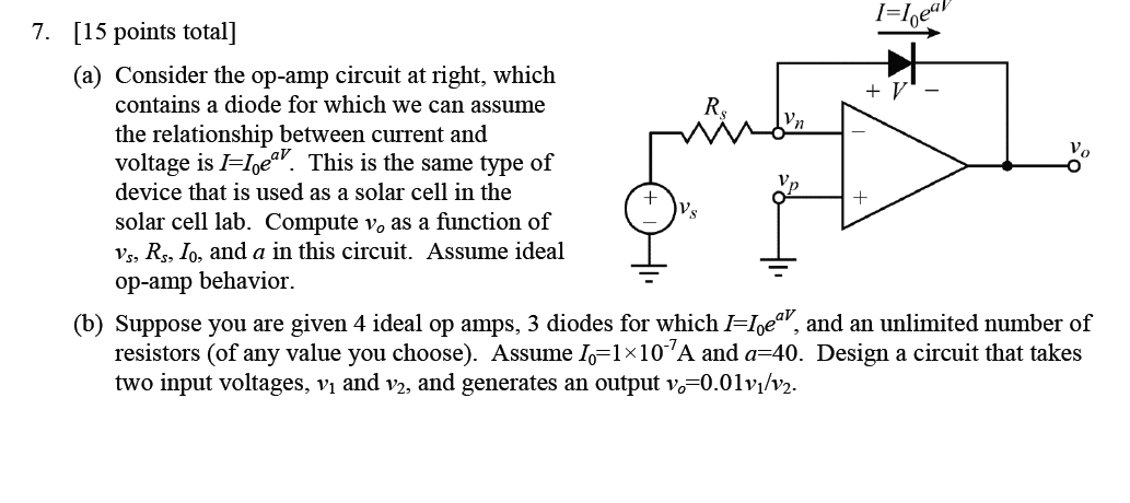 Consider the op-amp circuit at right, which contai