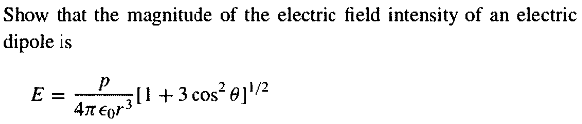 Show that the magnitude of the electric field inte
