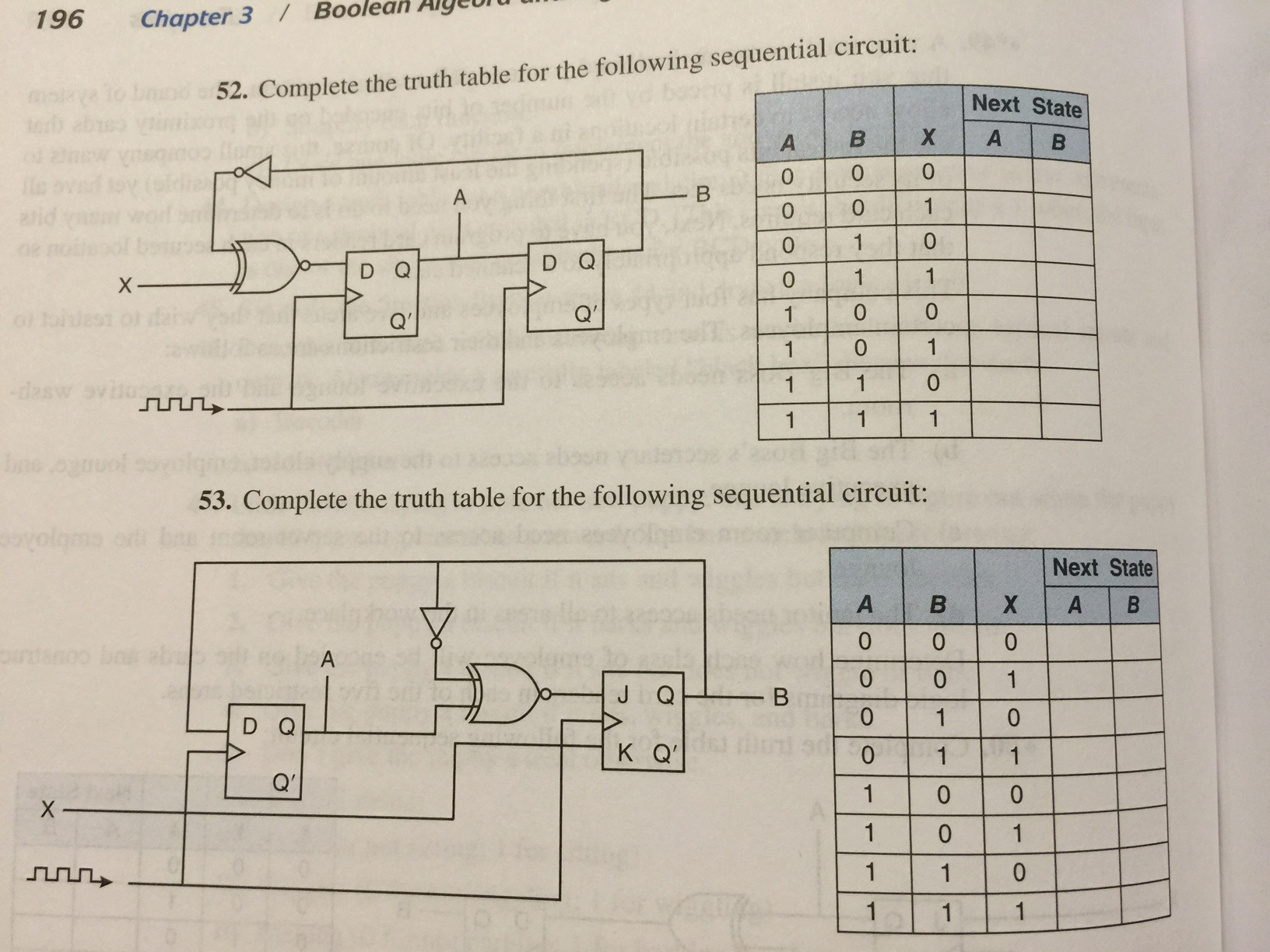 Solved complete the truth table for the following sequent - Table circuit ...