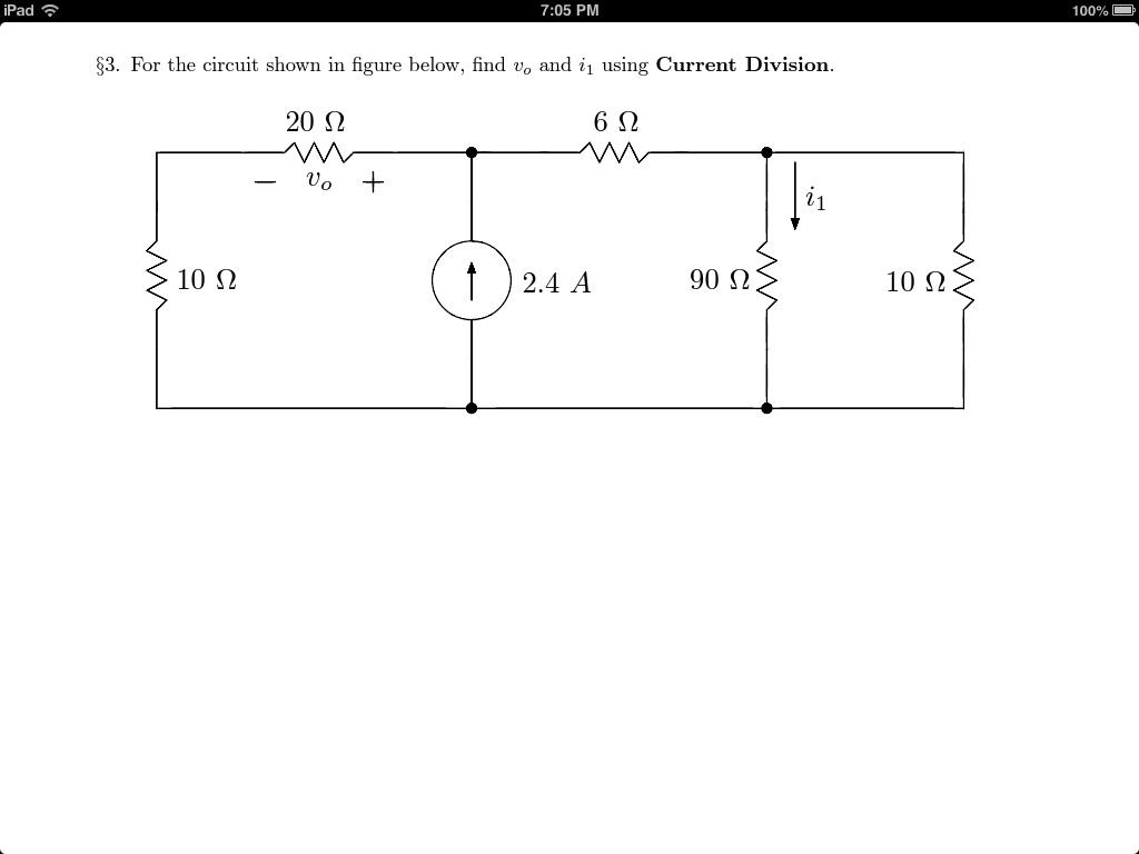 For the circuit shown in figure below, find v0 and