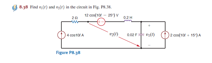 Find v1(t) and v2(t) in the circuit