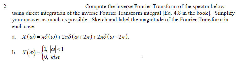 Compute the inverse Fourier Transform of the spect