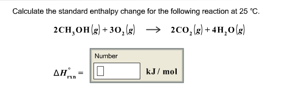 Calculate the standard enthalpy change for the fol