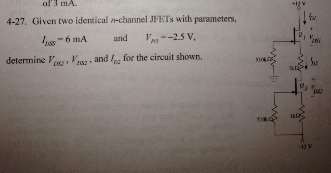 Given two identical n-channel JEETS with parameter