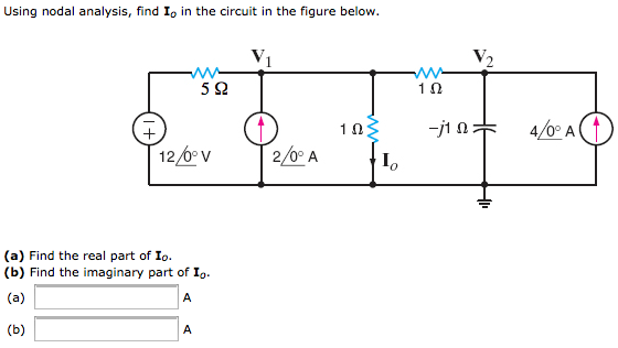 Using nodal analysis, find I0 in the circuit in th