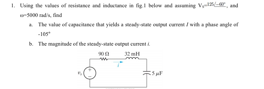 Using the values of resistance and inductance in f
